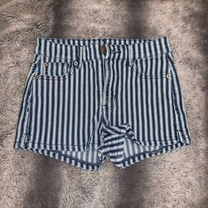 American Eagle jean shots with stripes